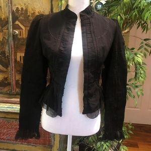 Elie Tahari Silk Black Jacket Blazer Size XS